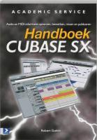 Handboek Cubase SX Power / druk 1