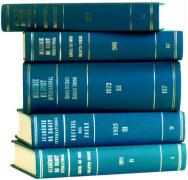 Recueil des Cours, Collected Courses: Index Tomes/Volumes 1995-1996 (Volume 260a) (Collected Courses of the Hague Academy of International Law - Recueil des Cours)