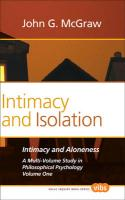 Intimacy and Isolation. - McGraw, John G.