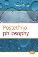 Postethnophilosophy. - Osha, Sanya