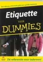 Etiquette voor Dummies / druk 1 - Fox, S.