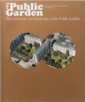 The Public Garden: Breeze of Air: Enclosure and Disclosure of the Public Garden