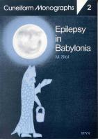Epilepsy in Babylonia: 2 (Cuneiform Monographs)