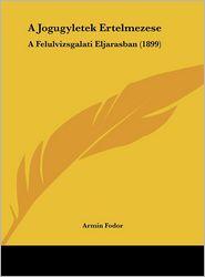 A Jogugyletek Ertelmezese: A Felulvizsgalati Eljarasban (1899) - Armin Fodor